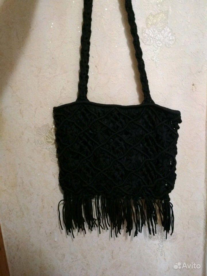 Сумка черная плетёная  5ae9ceaa1d219