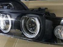 передние фары с линзой bmw e39 желтый поворотник