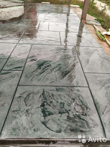 Печатный бетон штукатурка портал бетона