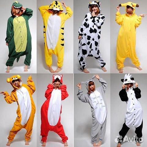 Кигуруми-костюмы-пижамы в виде животных  0b8c5b0dcf611