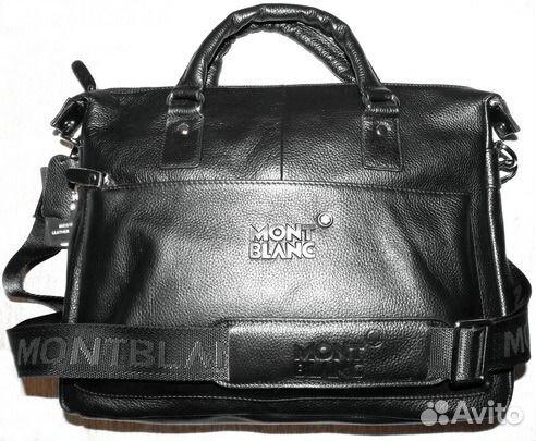 Мужская кожаная стильная сумка Montblanc новая A4   Festima.Ru ... 429b373faaf