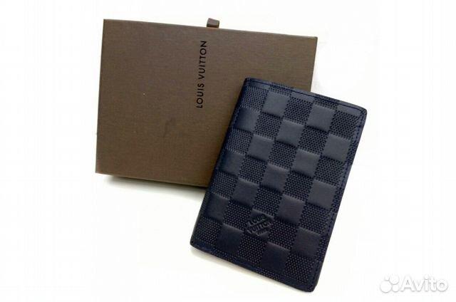 b4694ef7eaef Обложка на паспорт синяя Louis Vuitton купить в Санкт-Петербурге на ...