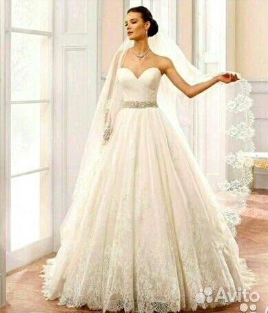 7fa7cc471f4 Прокат Шикарное свадебное платье с шлейфом купить в Республике ...