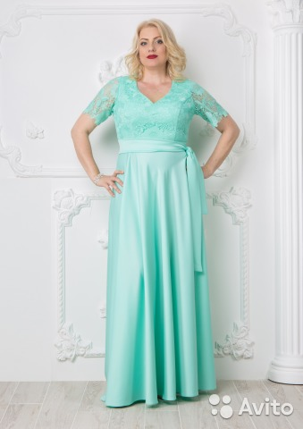 Платье в пол мятный цвет 52,54 размер   Festima.Ru - Мониторинг ... ccdfc64d1d3