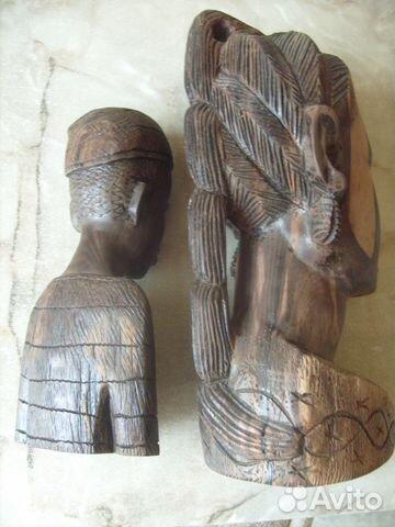 Две статуэтки. Черное дерево. Африка 70 - е года 89087998445 купить 4