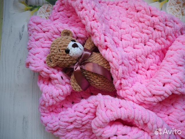 вязаный плюшевый детский плед плед новорожденному Festimaru