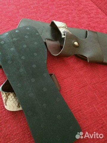 Абсолютно новые кожаные шлепанцы 89134842209 купить 3