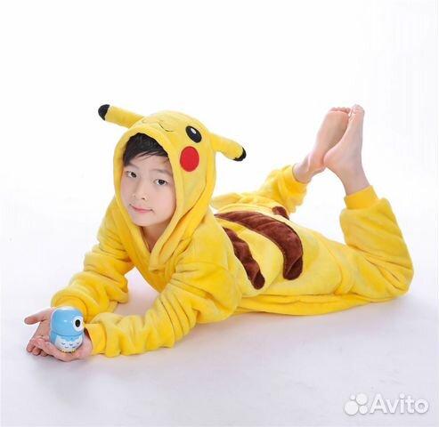 Пижама Пикачу (кигуруми) на рост 120 - 130 см  bd9de60669b76