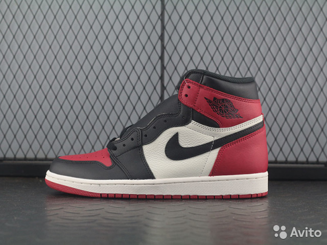 Bred Toe Air 1 High Og Retro Jordan Nike nOk0Pw