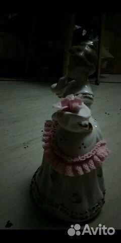 89061656450 Фарфоровая музыкальная статуэтка