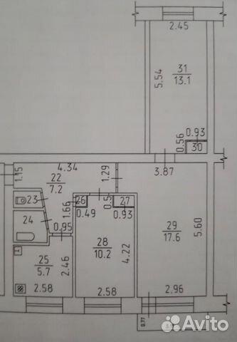 3-к квартира, 57.6 м², 2/5 эт. 89852498954 купить 1