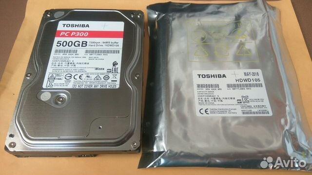 Жесткий диск 500 Гб, новый, для пк, Тошиба P300