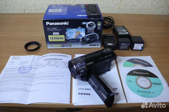 Видеокaмepа Раnаsoniс hdс-SD800 89381477093 купить 2