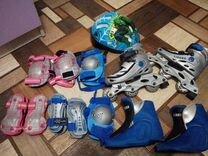 Коньки роликовые,раздвижные, размер 31-34
