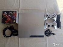 Sony PS3 Silver серебро+15 игр+гарантия
