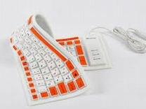 Гибкая силиконовая клавиатура qrk-311(новая)