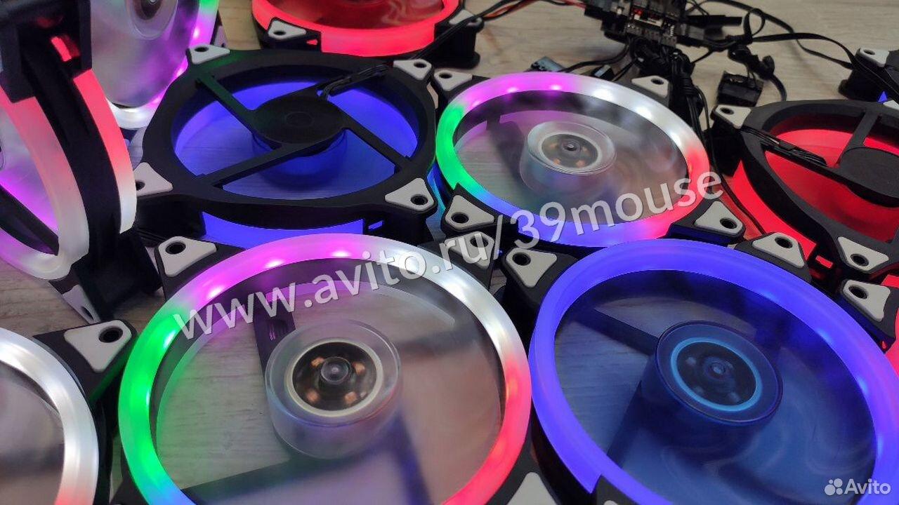 Кулер вентилятор с подсветкой RGB новые 120мм  89216108390 купить 6