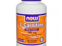 Л-Карнитин NOW L-Carnitine Fitness Support 500 мг