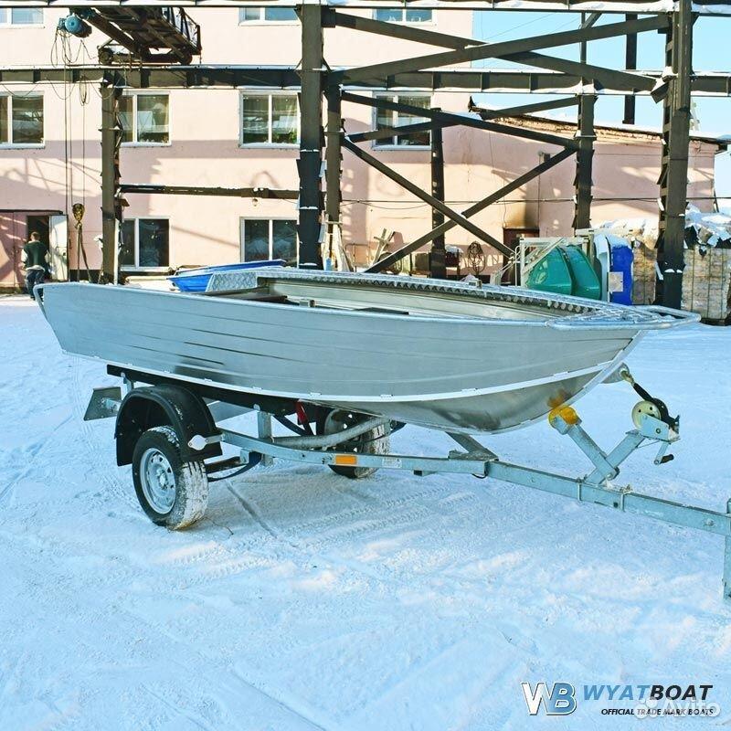 Алюминиевая лодка Wyatboat 390Р с 9.9 прав не надо
