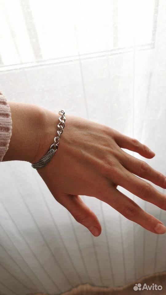 Браслет серебряный 925 родированый красцветмед  89130467467 купить 5