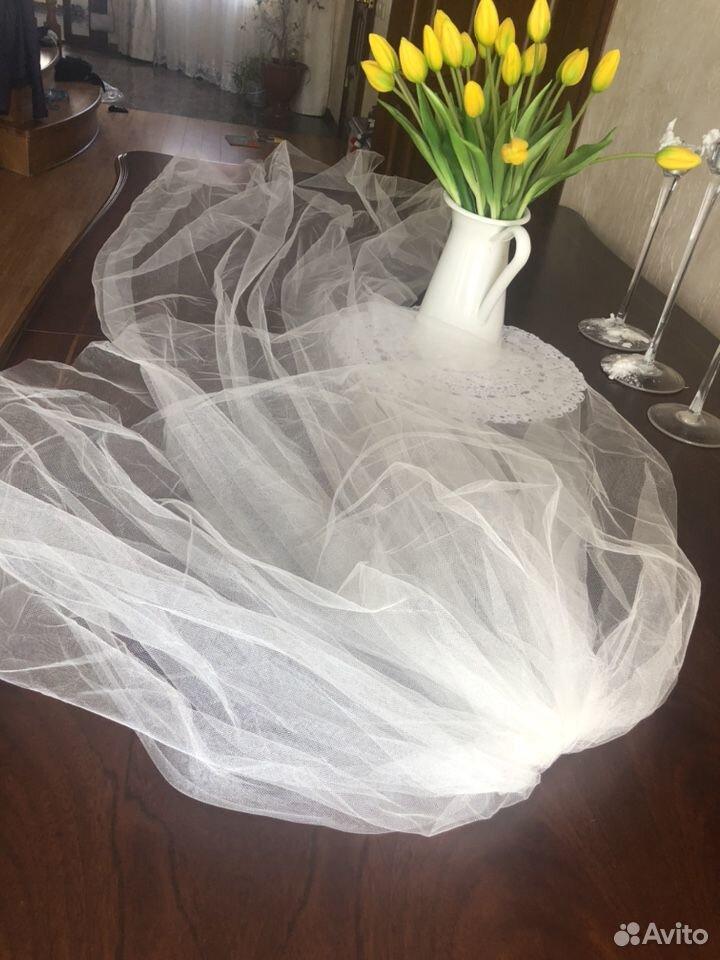 Свадебная фата в пол трехслойная  89818224760 купить 1