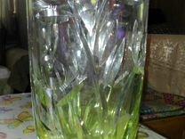 Хрустальная чешская ваза