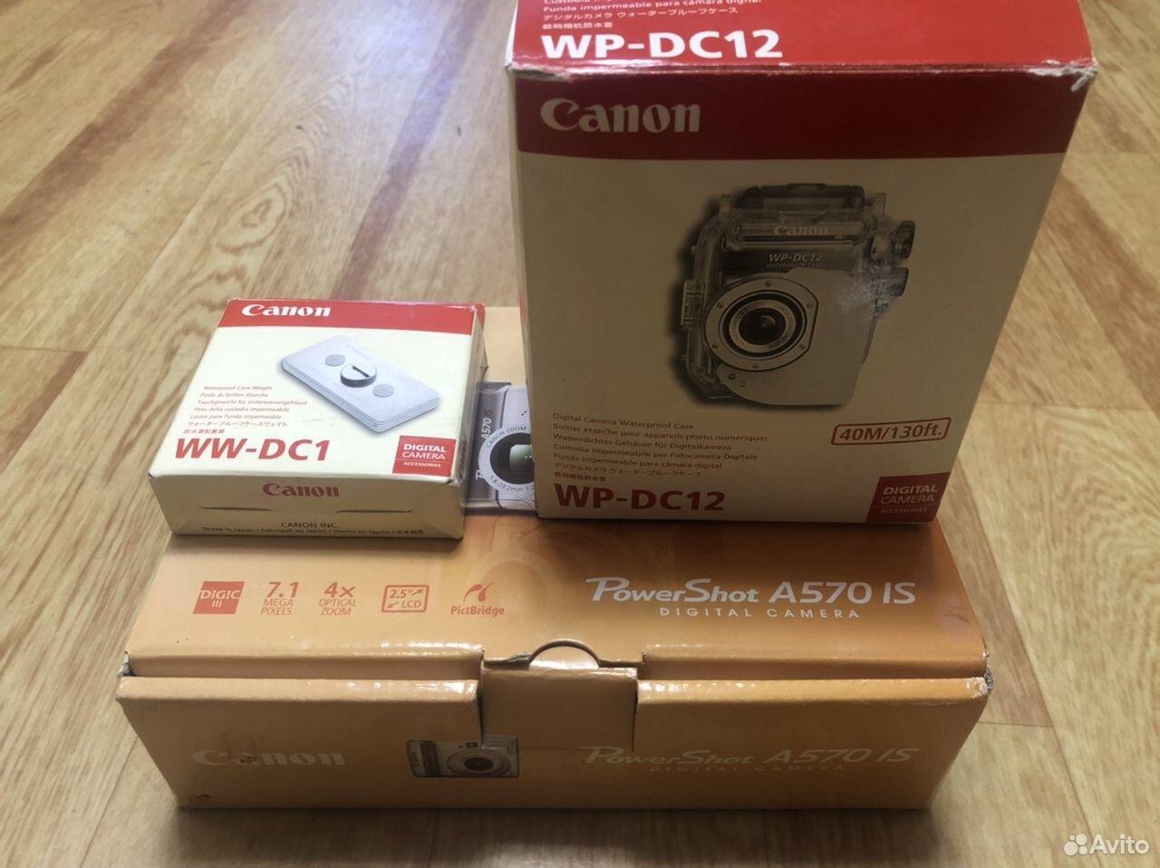 Фотоаппарат canon A570is с боксом для подводной сь 89143229991 купить 1